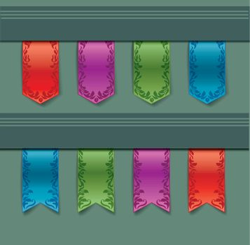 vintage ribbon of different colors