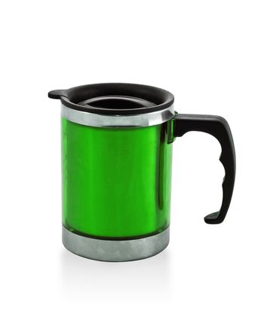 metal green cup
