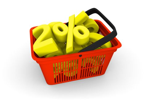 Shopping basket full of discounts