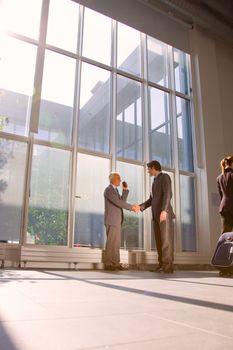 businessmen meet shaking hands