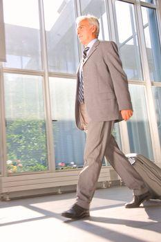 businessman with trolley