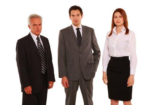 businessmen and businesswoman standing