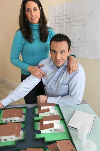 Couple in architect firm