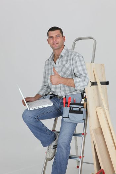 Carpenter ordering stock on-line
