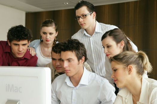 young businesspeople on a educational training