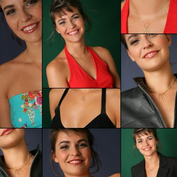 Collage of a good-looking woman