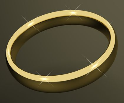 Gold Ring Representing Love Valentines And Romancing