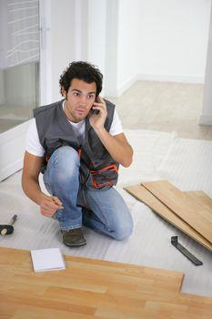 Parquet layer having phone call