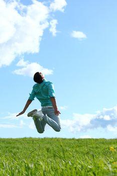 man jump