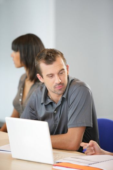 businessman on an educational training