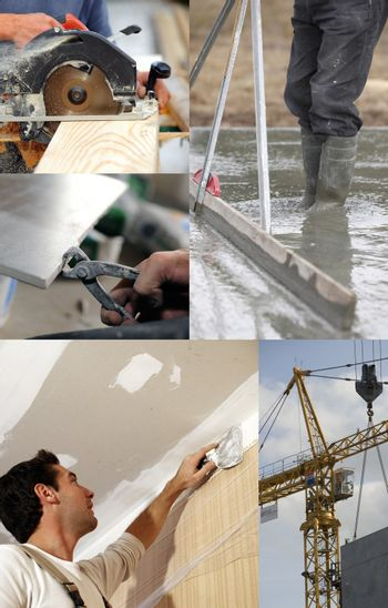 Montage of building jobs