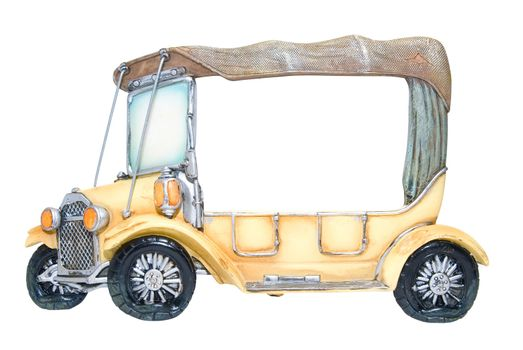 Frame of foto as toy car