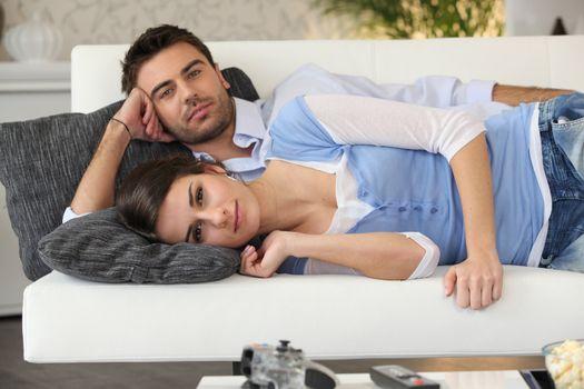 Couple having a nap