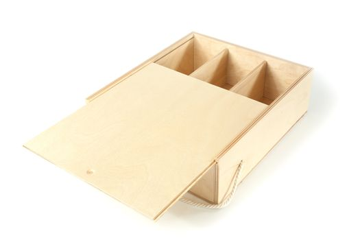 unpainted a box with compartments