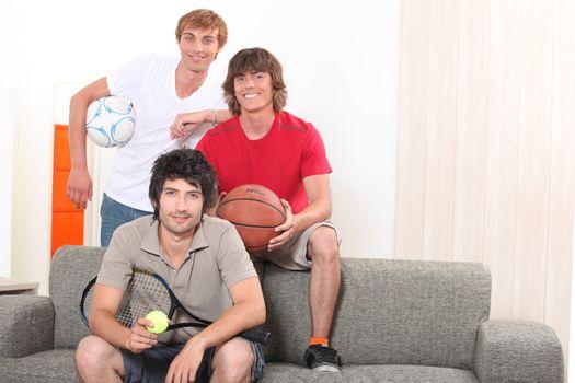 Sporty guys