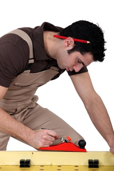 Laborer sawing