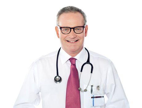 Portrait of caucasian doctor smiling