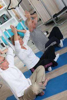 A yoga workout