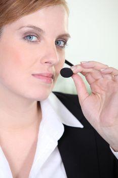an employee using a micro