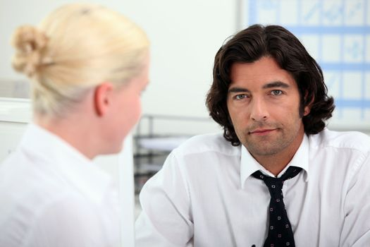 Man working in recruitment firm