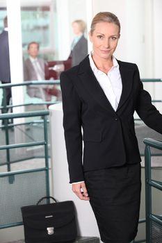 Businesswoman in agency