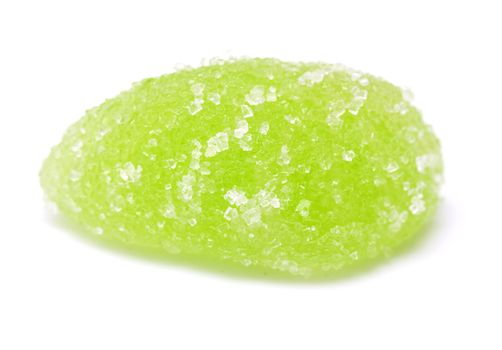 green jelly on white background