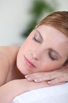 Woman having a little nap