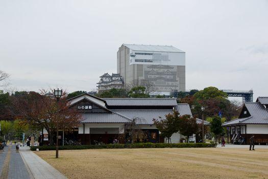 Himeji castle under reconstruction