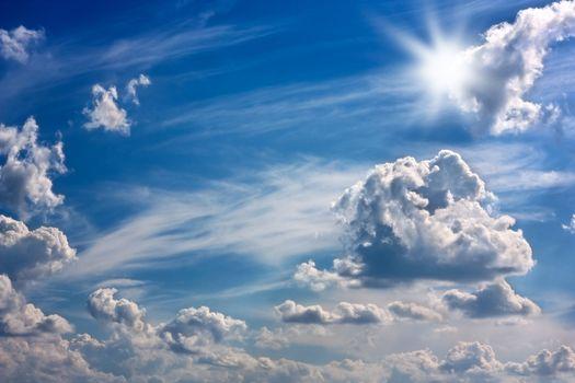Sky,sun and clouds