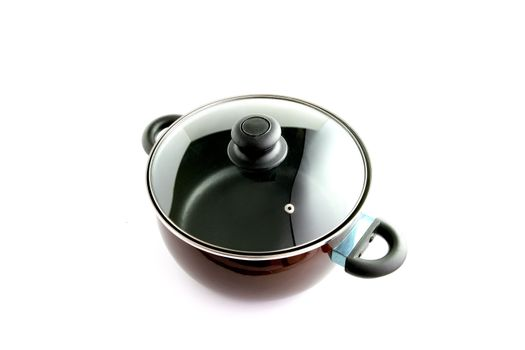 Large pan with glass lid