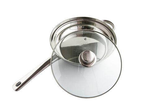 Saucepan with a glass lid