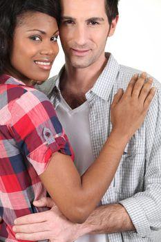 Mixed-race couple