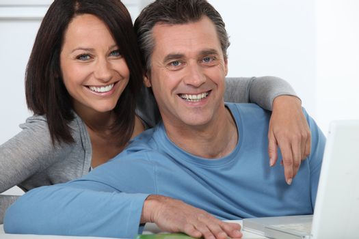 Couple doing some on-line shopping