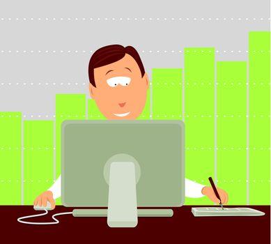 Businessman working / Investing online
