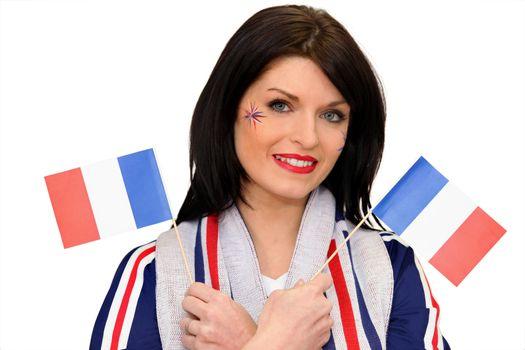 A patriotic woman