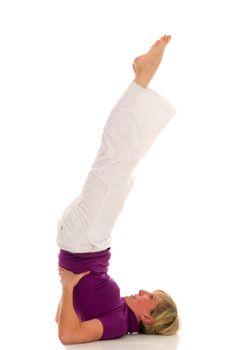 woman practicing gymnastics