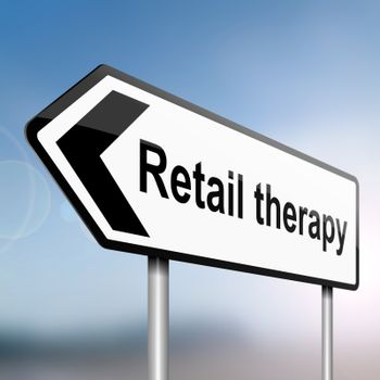 Retail therapy concept.