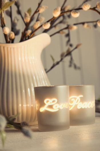Meditation votive candles creating a relaxing atmosphere