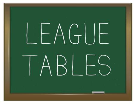 League tables.