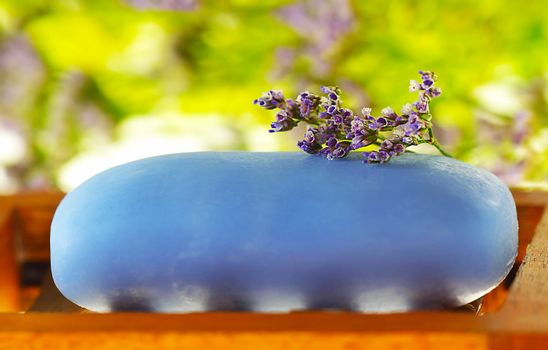 Soap with tiny flower
