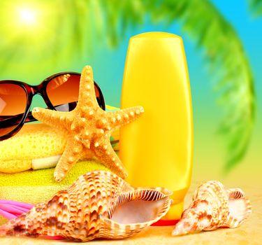 Summertime holidays background
