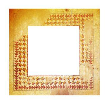 Ancient mosaic frame