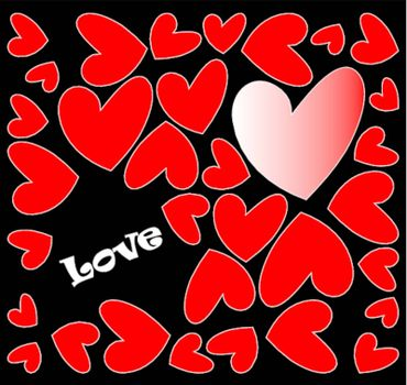 abstract hearts background with love