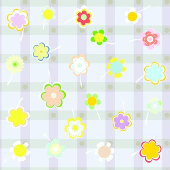 vector seamless background with a delicate flowers. vector