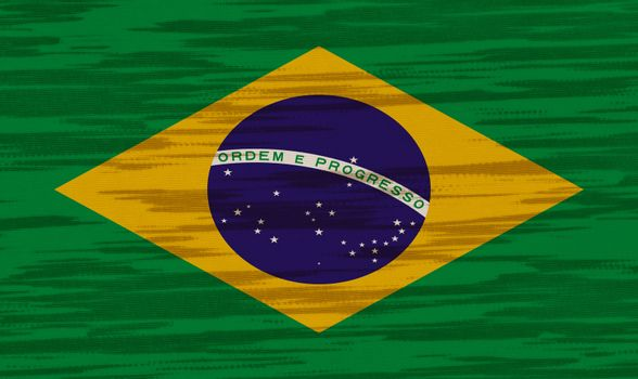 Brazil Flag cotton texture