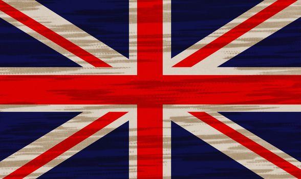 UK Flag cotton texture