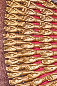 A Golden Thousand hands Quan Yin in Bangkok