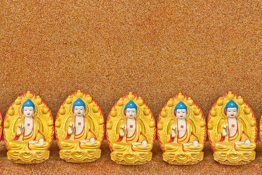 Buddha statue on a wall