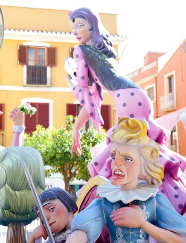 Fallas fest figures on Valencia province