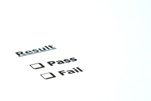 Result Pass or Fail